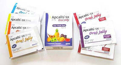 Apcalis Oral Jelly Tadalafil 20mg  (2 week Pack + 2) 16pcs (Ελληνική Περιγραφή)