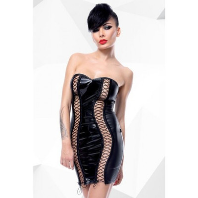 Astrid Provocative Black Mini Dress  (Buy Here Save €12)