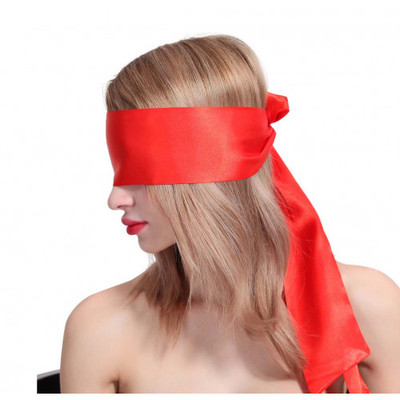 Blindfold Scarf Cyprus-Red Satin Blindfold Scarf