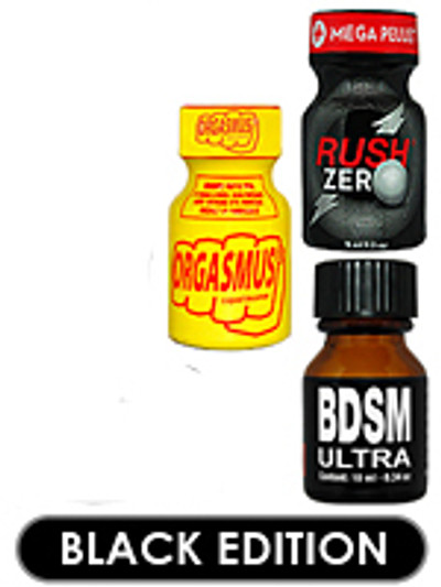 Black Edition POPPERS 3pcs X 13ml (Special Offer) 10