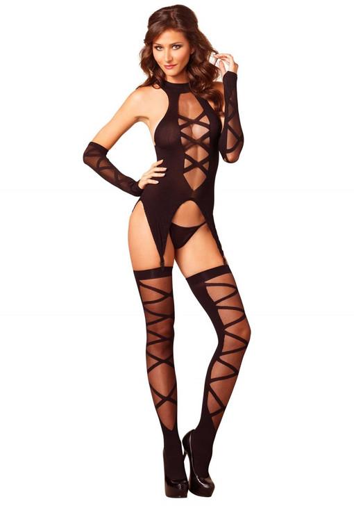 Camigarter, Stockings & Gloves Black O/S