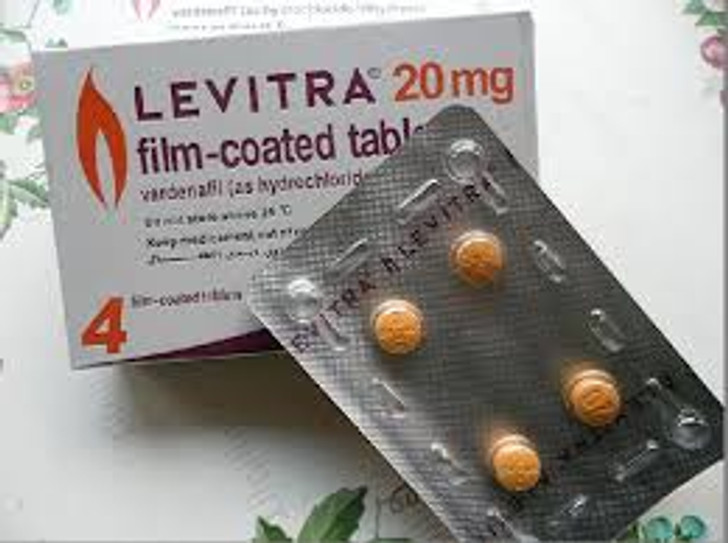 Levitra Vardenafil Tablets 20mg (1 Strip x 4) 4pcs