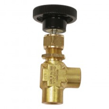 NEEDLE VALVE - RIGHT ANGLE - 1000PSI - BRASS - ECONO
