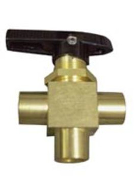 "VALVE - 3-WAY - 1/8"" - CHEMICAL INJECTION - BRASS (PARKER), HYDRAMASTER"
