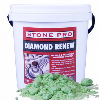 DIAMOND RENEW POLISH POWDER - MARBLE LIMESTONE TRAVERTINE - 3 LB, STONEPRO