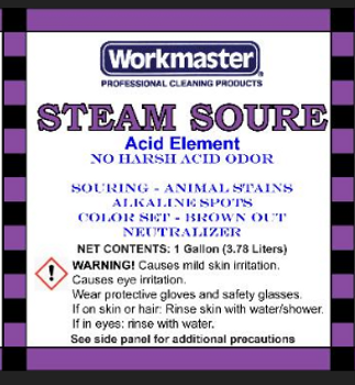 STEAM SOURE - ACID SOLUTION - GAL, WORKMASTER