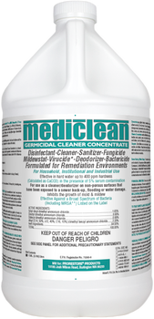 PLEASE CALL FOR AVAILABILITY 888-CLEAN-44 // MEDICLEAN GERMICIDAL CLEANER CONCENTRATE (QGC) - LEMON - GAL, PRO RESTORE