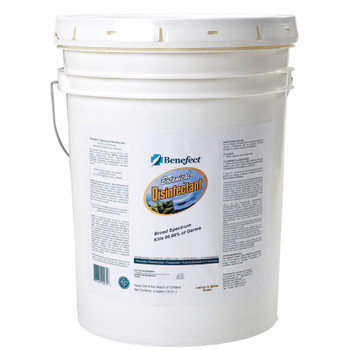 PLEASE CALL FOR AVAILABILITY 888-CLEAN-44 // BOTANICAL DISINFECTANT - 5 GAL, BENEFECT