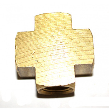 "FEMALE CROSS - 3/8"" - BRASS"