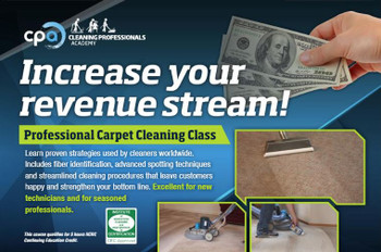 CARPET CLEANING CLASS, CPA Professionals, March 16, 2020