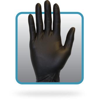 GLOVES - BLACK NITRILE, CHEMICAL RESISTANT, LARGE