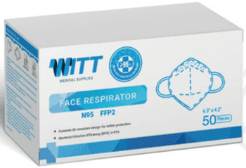 Witt N95 MASK, ear loop, BOX OF 50