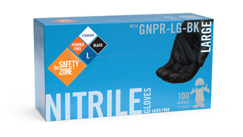 GLOVES - BLACK NITRILE, CHEMICAL RESISTANT, choose size