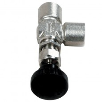 "NEEDLE VALVE - METERING 1/8"" - RT ANGLED - STAINLESS"