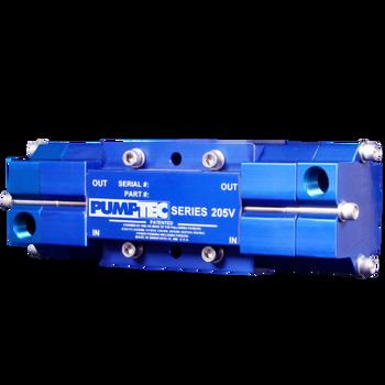 """PUMP - 205 V - M VALVE - 6-3/8"""" PORTS - BLUE, PUMPTEC"""