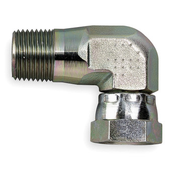 "ADAPTER -  SWIVEL - 90 DEG - 3/8"" - STAINLESS"