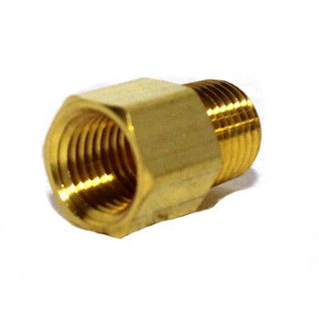 "ADAPTER - 1/4"" FPT X 1/4"" MPT - BRASS"