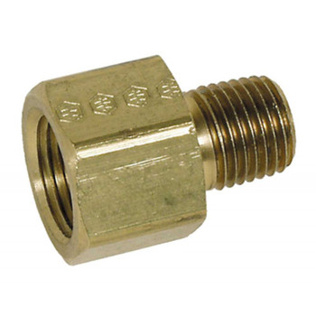 "ADAPTER - 3/8"" FPT X 1/4"" MPT - BRASS"
