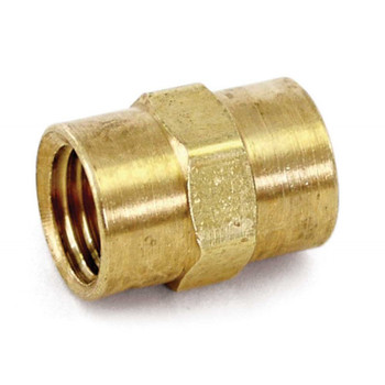 "COUPLING - HEX - 1/4"" FPT - BRASS"
