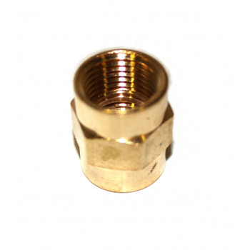"COUPLING - HEX - BRASS - 1/2"" FPT"