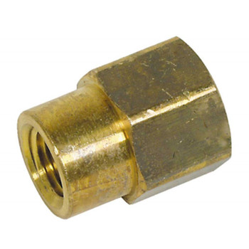 "COUPLING - HEX REDUCING - 3/8"" X 1/4"" FPT - BRASS"