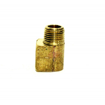 "STREET ELBOW - 90 DEGREE - BRASS - 1/8""MPT  X 1/8""FPT"