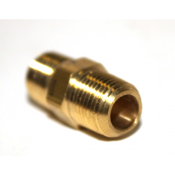 "NIPPLE - HEX - BRASS - 1/8"" X 1/8"" MPT"