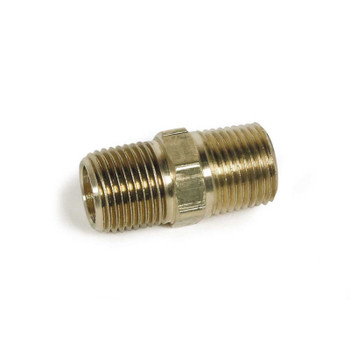 "NIPPLE - HEX - 1/2"" X 1/2"" MPT - BRASS"