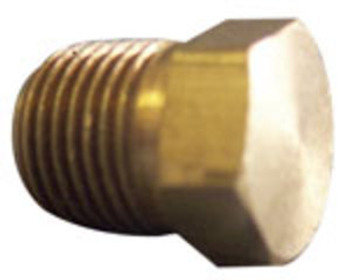 "PLUG - HEX HEAD - 1/8"" - BRASS"