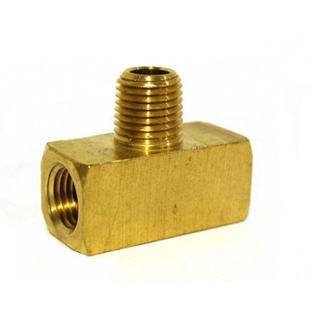 "TEE - MALE BRANCH - BRASS - 1/4""F X 1/4""F X 1/4""M"