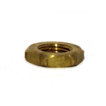 NUT - PIPE THREAD HEX - LOCK - BRASS - 1/4""