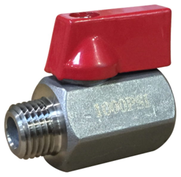 "BALL VALVE - HP W/ 1000 PSI - 1/4"" - RED"
