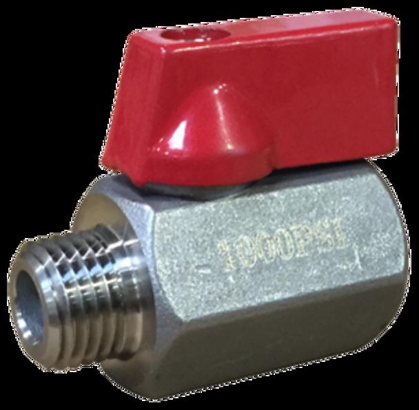 "BALL VALVE - HP W/ 1000 PSI - 1/4"" - RED"