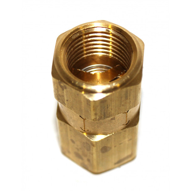 "CHECK VALVE - INLINE BRASS - 1/2"" X 1/2"" FPT - 1200 PSI"