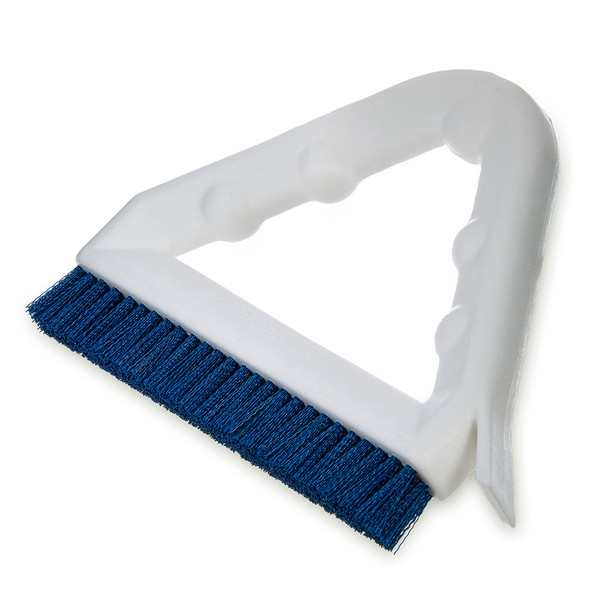 GROUT BRUSH - BLUE W/TRIANGULAR HANDLE