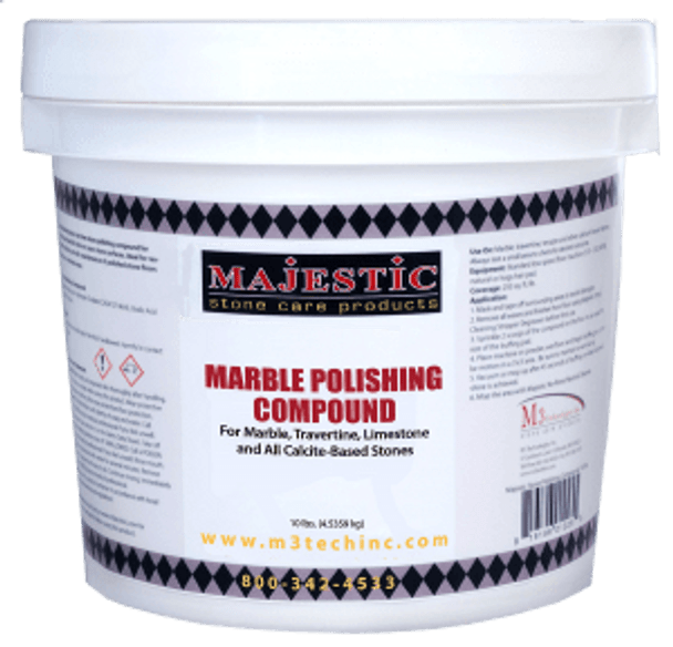 MARBLE POLISHING COMPOUND - 10 LB, M3 TECHNOLOGIES