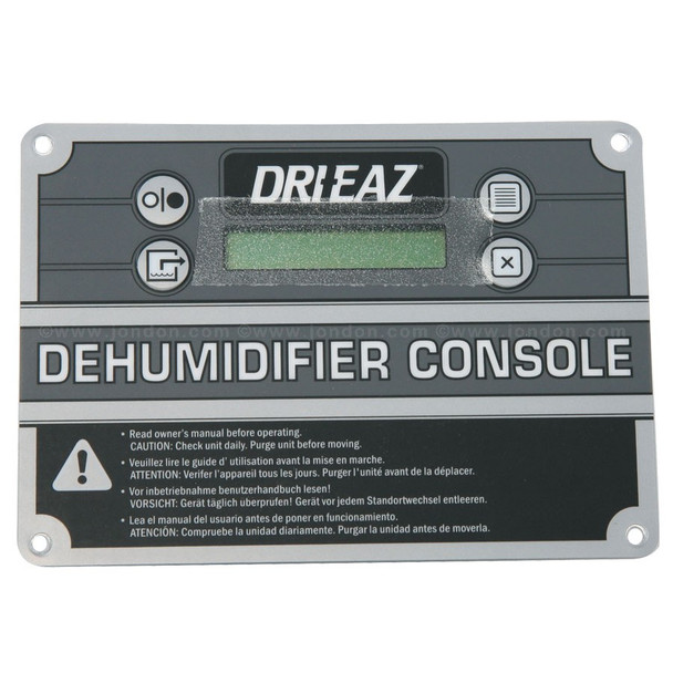 CONTROL PANEL - DEHUMIDIFIER CONSOLE, DRIEAZ