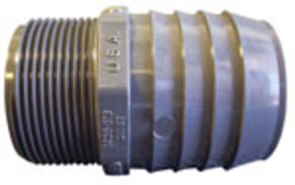 "HOSE BARB - 2"" X 1.5"" MPT - PVC"