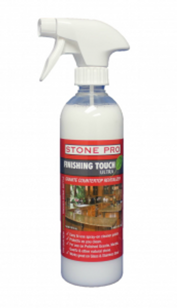 FINISHING TOUCH SPRAY - GRANITE COUNTERTOP CLEANER/REVITALIZER/PROTECTOR/POLISH - PINT, STONEPRO