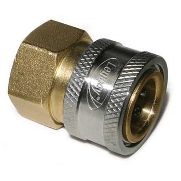 "QUICK COUPLER - STRAIGHT - FEMALE - 3/8"" FPT - BRASS"