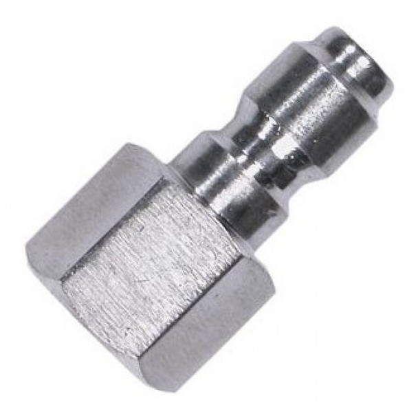 "QUICK COUPLER - STRAIGHT - MALE - 3/8"" FPT - STAINLESS"