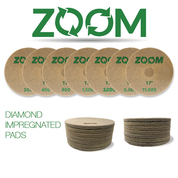 "ZOOM DIP DIAMOND PAD KIT - 17"", STONEPRO"