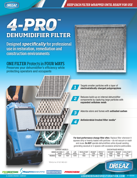 4-PRO Four-Stage Dehumidifier Filters (3-pack)