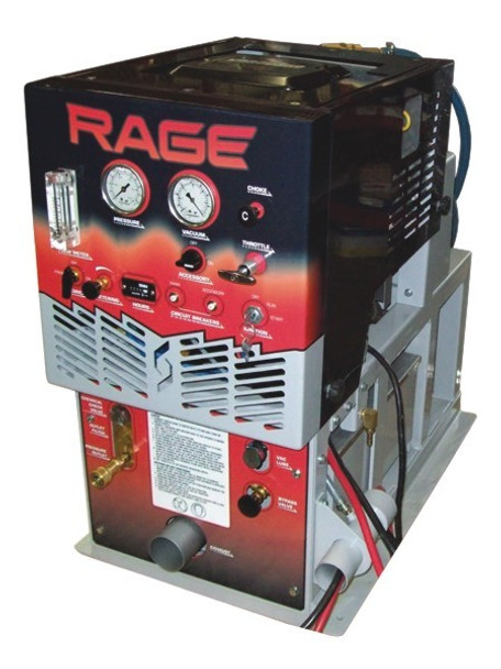 RAGE - 90 GAL WASTE TANK - W/ HOSE & WAND, SAPPHIRE SCIENTIFIC