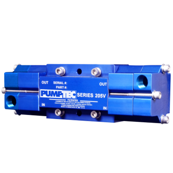 "PUMP - 205 V - M VALVE - 6-3/8"" PORTS - BLUE, PUMPTEC"