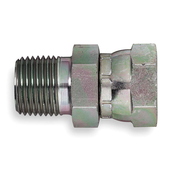 """ADAPTER - SWIVEL - 1/4"""" MPT X 1/4"""" FPT - STAINLESS"""