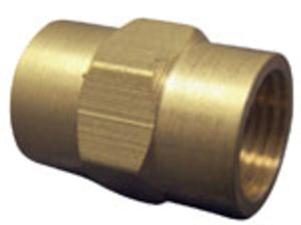 "COUPLING - HEX - BRASS - 3/8"" FPT"