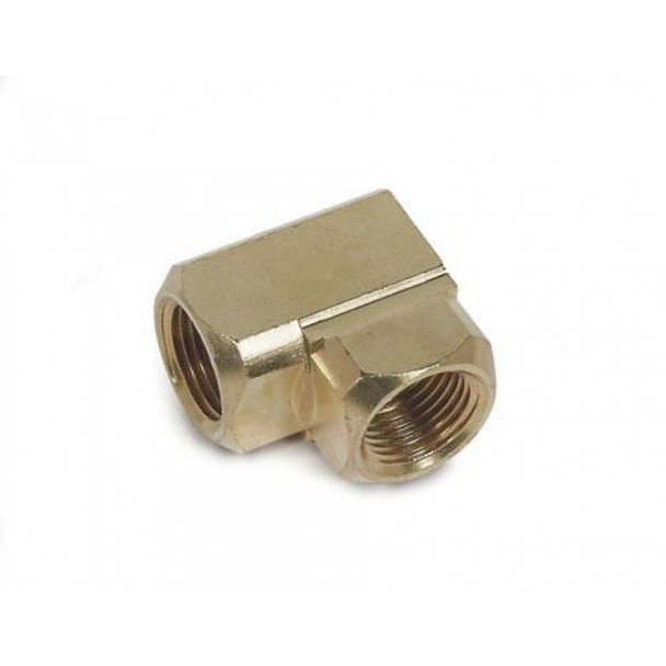 """ELBOW 90 DEGREE - BRASS - 1/4"""" FPT X 1/4"""" FPT"""