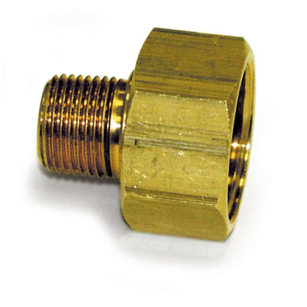 "SWIVEL FITTING - GARDEN HOSE - 3/4"" FGH X 3/8"" MPT"