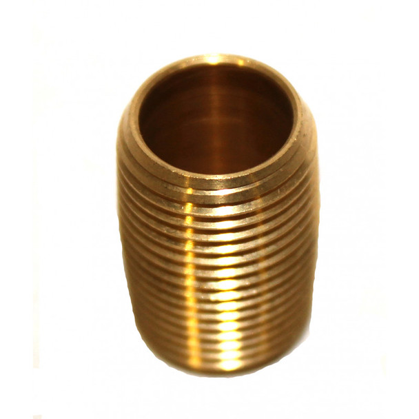 "NIPPLE - CLOSED - 3/8"" - BRASS"